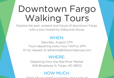 Downtown Fargo Walking Tour Invite